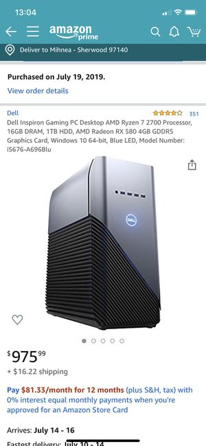 Dell PC Computer for Sale with Monitor for Sale in Tigard, OR