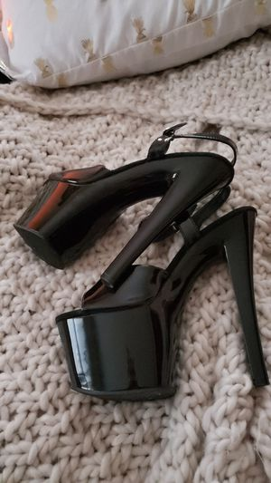 Pleaser High Heels in Black With Straps for Sale in Bloomington, IN