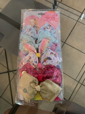 JOJO SIWA Bow set of 12 BRAND NEW SEALED IN PACKAGE for Sale in Riverside, CA