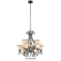 KICHLER Camerena 9-Light Olde Bronze Chandelier with White Etched Glass Shade for Sale in Dallas,  TX
