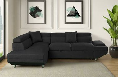 Miami Black LAF Sleeper Sectional for Sale in Austin,  TX