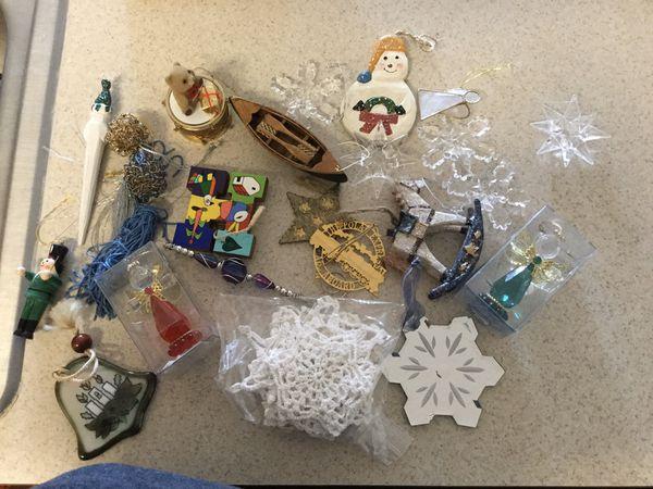 Christmas ornaments, misc