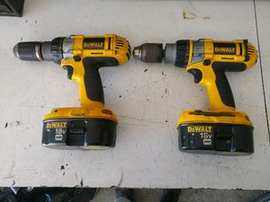 Dewalt ,18v xrp hammer drill and drill 30 for both for Sale in Indianapolis, IN