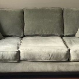 Couch Grey/green for Sale in Garfield, NJ