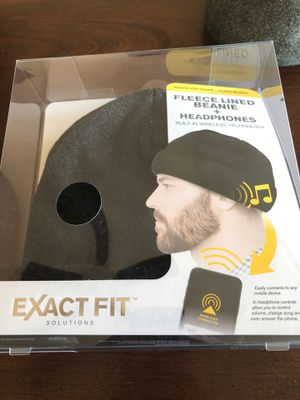 Fleece lined beanie and Bluetooth headphones for Sale in Ansonia, CT