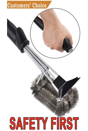 "SAFETY Grill Brush - Grill Brush & BBQ Cleaning Scraper. 100% Safe Wire Bristles Grill Cleaner. Best 18"" Barbecue Grill Brush for All Grills for Sale in Kansas City, MO"