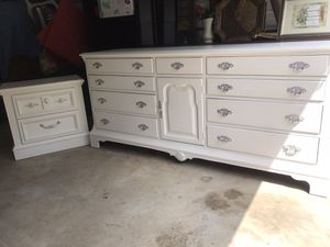 Real wood large dresser and nightstand for Sale in Purcellville, VA