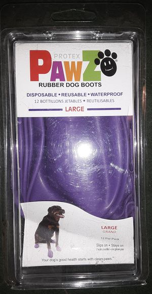 PAWS Rubber Dog Boots 12pk for Sale in Sacramento, CA