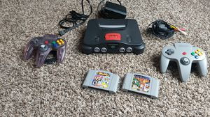 Nintendo 64 with games and controllers for Sale in Atlanta, GA