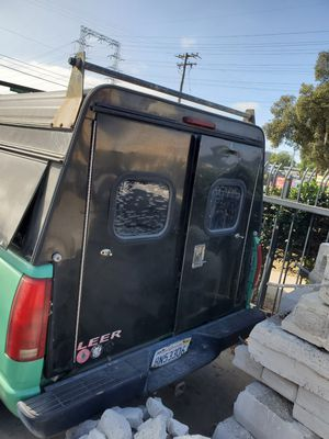 Chevrolet truck camper shell with 2 full size doors and utility cabinets on each side for sale $400 or best offer. for Sale in National City, CA