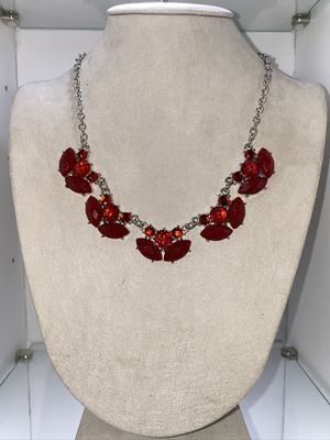 Red/Silver statement Necklace for Sale in Chicago, IL