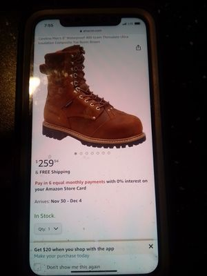 Carolina men's work boots for Sale in Tuckerton, NJ
