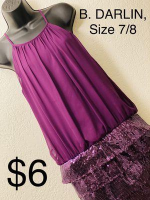 B. DARLIN, Purple Sleeveless Dress, Size 7/8 for Sale in Phoenix, AZ