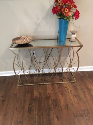 Gold console table for Sale in Laurel, MD
