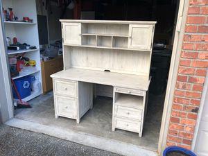 Pottery Barn Bead dresser w/hutch for Sale in Issaquah, WA