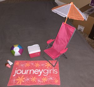 """Journey Girl Beach Pool Accessories 18"""" Doll for Sale in Inwood, WV"""