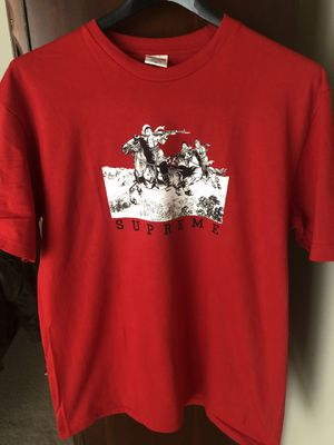 Supreme Red Riders Tee Size Medium for Sale in Troy, MI