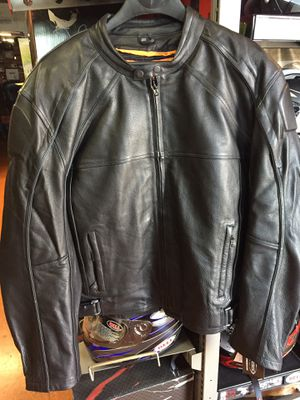 New motorcycle armor leather jacket $160 for Sale in Whittier, CA