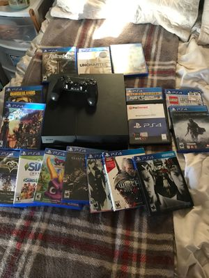 ps4 1tb and games! for Sale in Phoenix, AZ