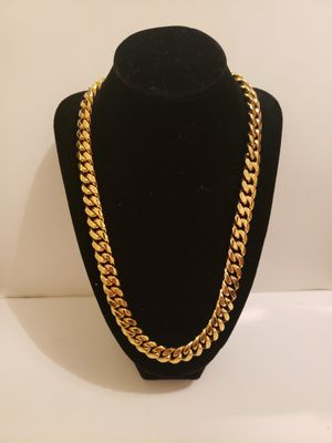 Real 14k Gold Plated Cuban Link Chain for Sale in MONTGMRY, IL