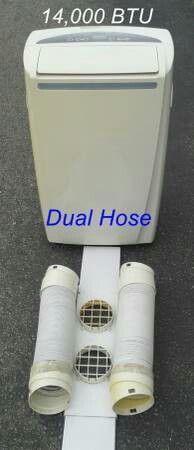 EdgeStar 14,000 BTU Portable Air Conditioner - Dual-Hose A/C + AC Window Kit for Sale in Vista, CA