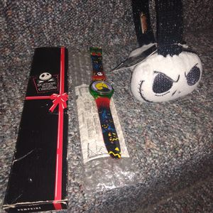 Tim Burton Night Mare Before Christmas Vintage Watch And Ear Muffs for Sale in Tinley Park, IL