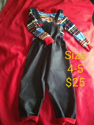 Kids chucky costume for Sale in Compton, CA