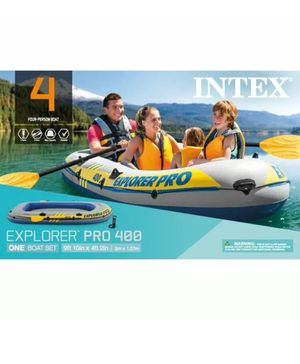 Intex Inflatable Explorer Pro 400 Four-Person Boat with Oars and Pump for Sale in Greenbelt, MD