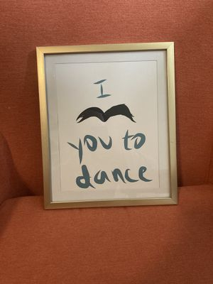 """""""I mustache you to dance"""" framed print for Sale in Tacoma, WA"""