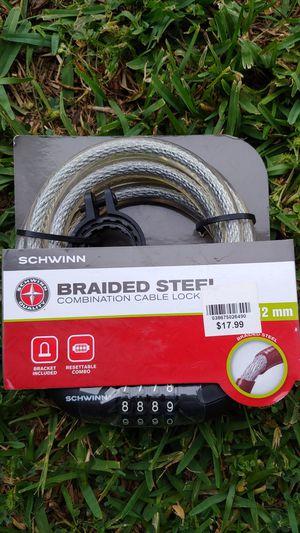Schwinn braised steel combination lock bike lock. New for Sale in Kenner, LA