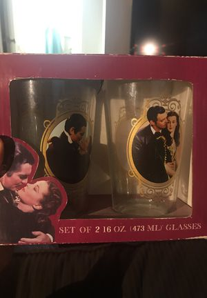 Gone With The Wind Glass Tumbler Set Cups for Sale in Los Angeles, CA