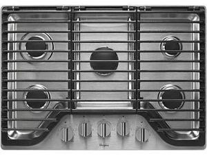 """Cooktop - Stove - Whirlpool - WCG97US0DS00 - 30"""" Stainless 5 Burner E-Z Lift - Gas - New for Sale in Miami, FL"""