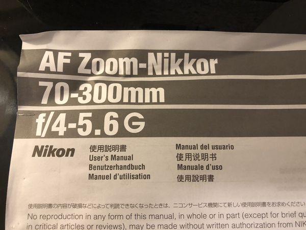 Nikki's Lens 70-300mm f/4-5.6G
