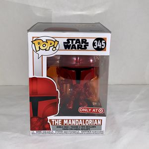 RED EXCLUSIVE THE MANDALORIAN 345 FUNKO POP STAR WARS BOBBLEHEAD for Sale in Santa Ana, CA