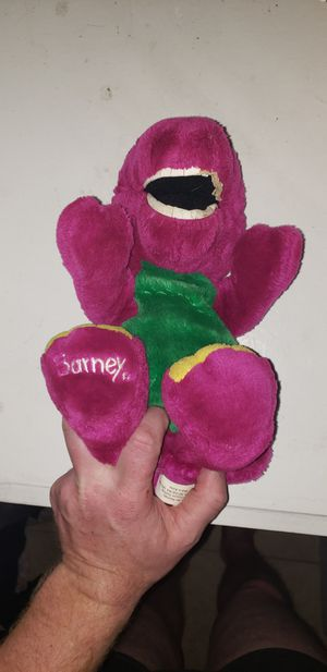 Vintage Barney Plushed Stuffed Animal Dinosaur Purple 1992 Lyons Group for Sale in Houston, TX