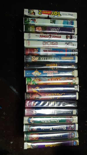 Walt Disney VHS tapes 18 for Sale in Tacoma, WA