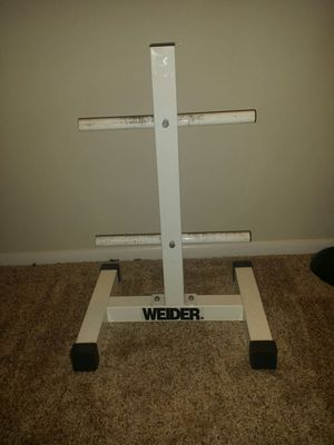 """Weider 2 tier standard weight stand with standard barbell holder. 26.5"""" height, 18"""" width. for Sale in Coconut Creek, FL"""