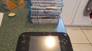 Nintendo Wii U system with games and accessories bundle. 13 Wii U 1 wii game 4 extra controllers with 3 nunchuks for Sale in Miramar, FL