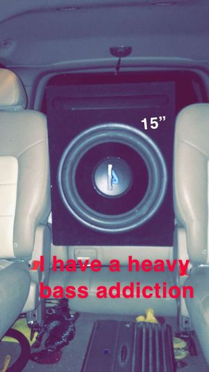 "Audioacoustik 15"" subwoofer with rf amp for Sale in Menifee, CA"