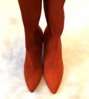 NEW RED SUEDE THIGH HIGH BOOTS (6 1/2) for Sale in Arlington, TX