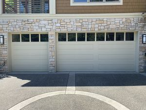 Two Matching, High Quality Garage Doors w/ Windows for Sale in Hunts Point, WA