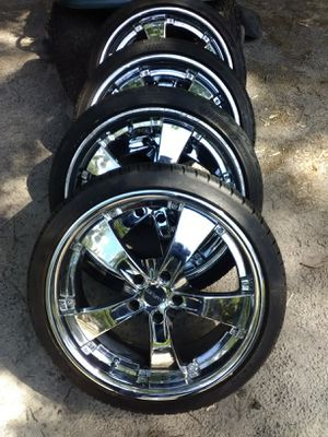 20s wheels and tires for Sale in Dublin, GA
