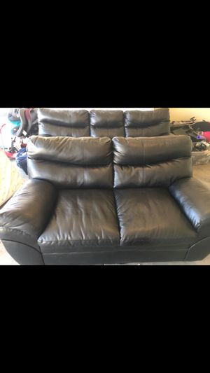 Black leather couches for Sale in Peoria, AZ