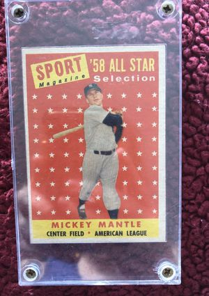 58' Mickey Mantle All-Star Baseball card for Sale in Folly Beach, SC