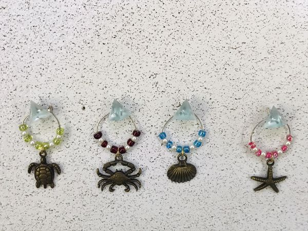 Sea Life Wine Glass Charms