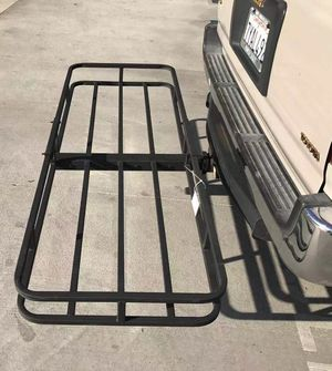 New in box XL large 62x23x5 inches 2 inch receiver mount hitch mount travel luggage basket rack 500 lbs capacity with pin canasta de enganche for Sale in Baldwin Park, CA