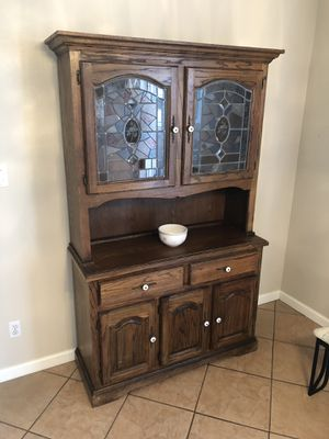 Mosaic Glass China Cabinet for Sale in Roseville, CA
