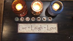 "Wooden Wall Hanging : ""Live-Laugh-Love"" for Sale in Kennesaw, GA"