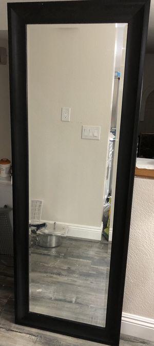 Black Floor Mirror 24in x 66in for Sale in Walnut, CA