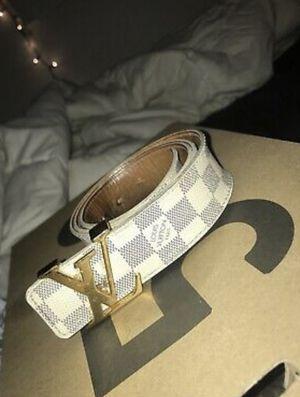 Louis Vuitton Damier Azur Checkered Belt for Sale in Durham, NC
